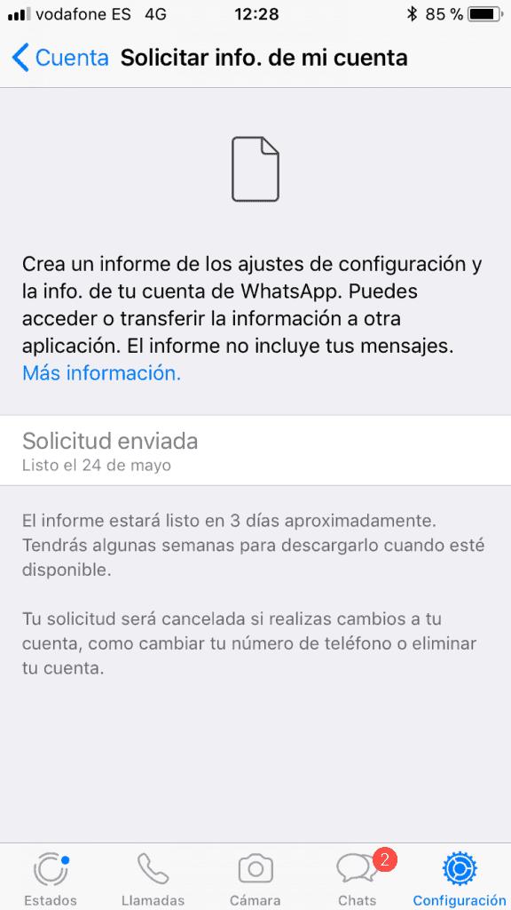 descubre los datos que guarda WhatsApp sobre ti