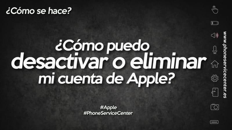 eliminar tu cuenta de Apple