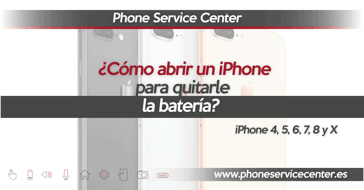 abrir un iphone bateria