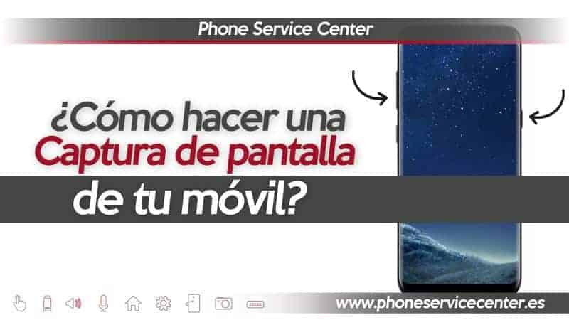 captura de pantalla en el movil