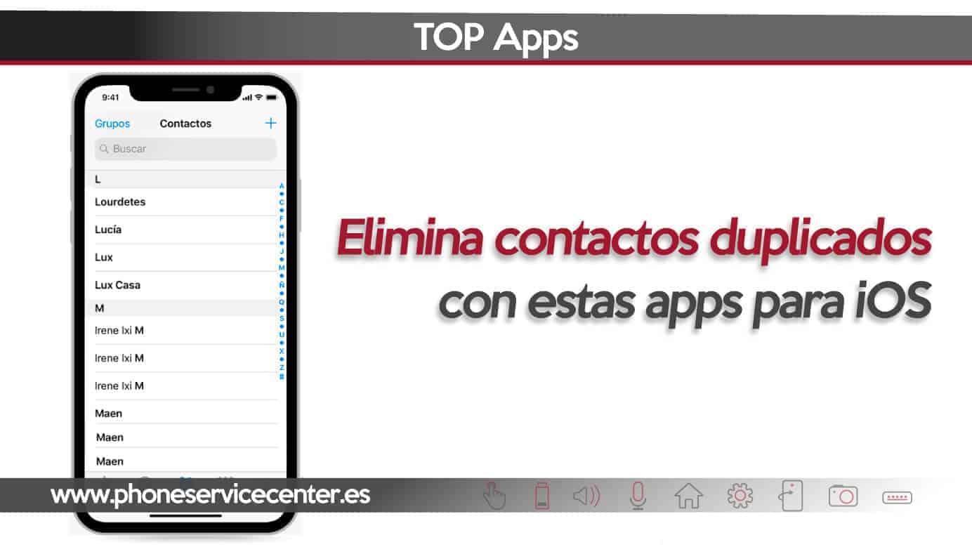 aplicaciones para eliminar contactos duplicados