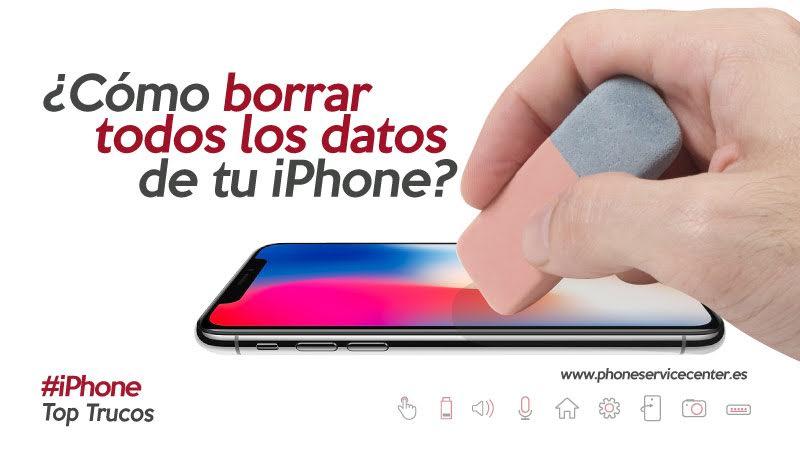 borrar todos los datos del iPhone