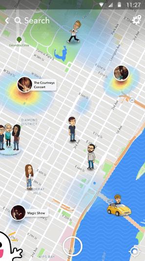 snap map