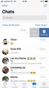 archiva tus conversaciones de whatsapp