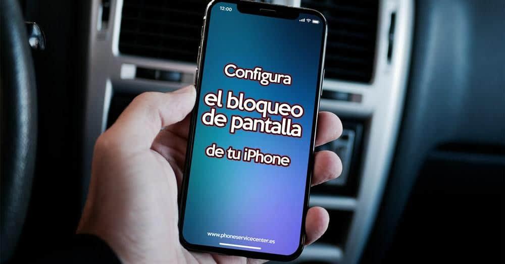 bloquear la pantalla de un iPhone