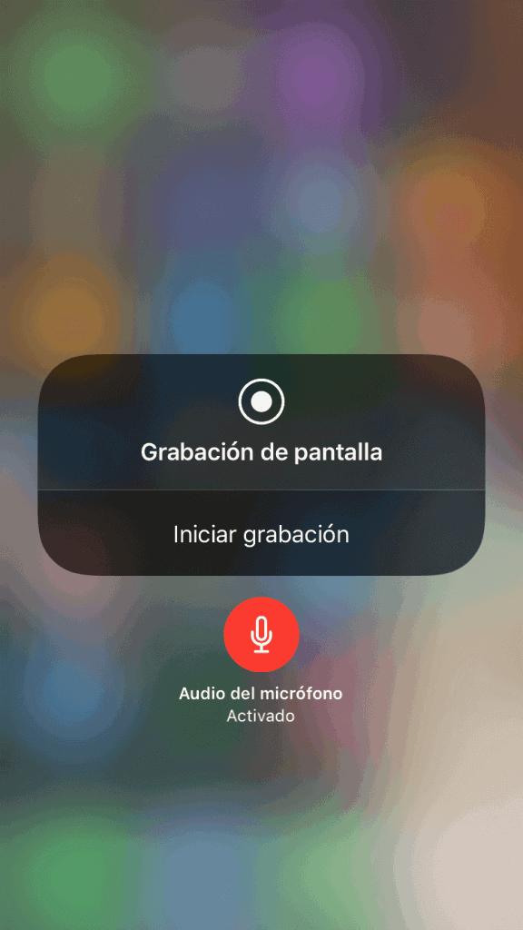 grabar pantalla del iphone con sonido