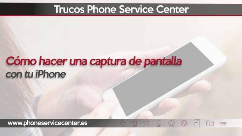 hacer una captura de pantalla en iphone