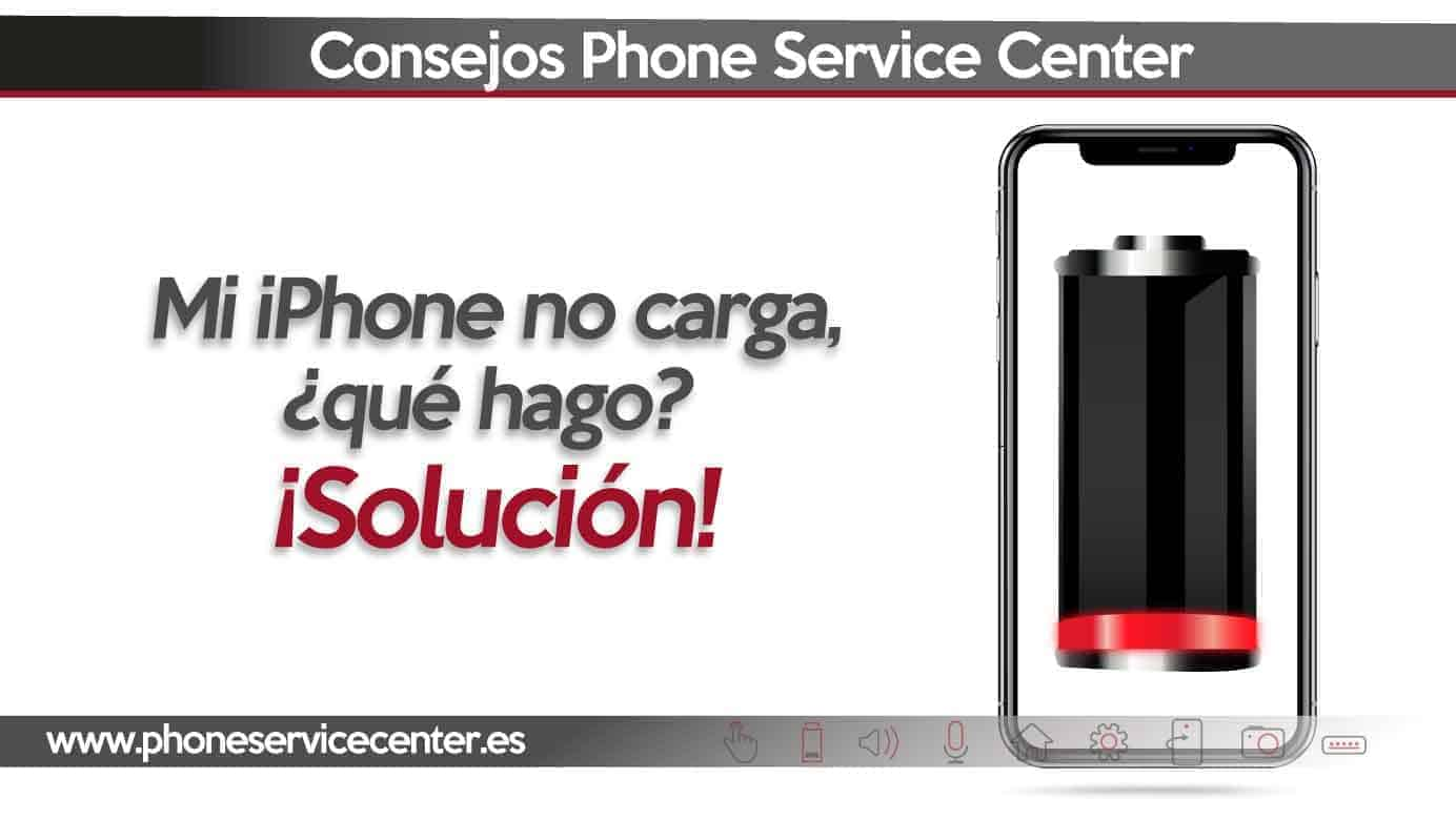 no carga mi iphone