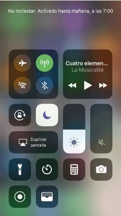 modo no molestar activado en iPhone