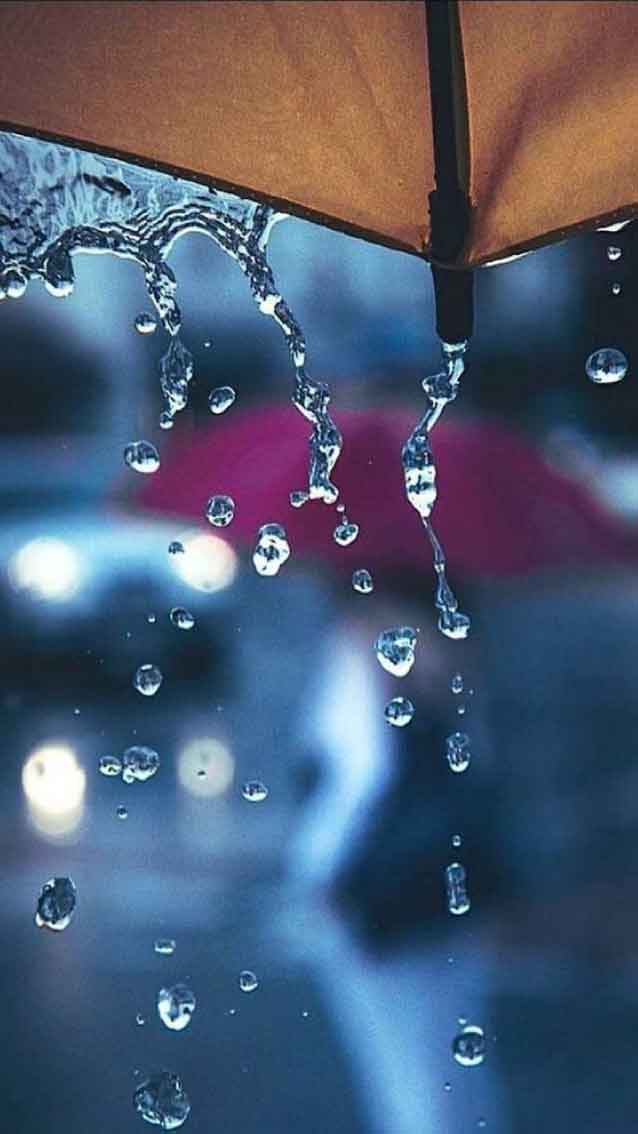 Lluvia con paraguas fondo pantalla iPhone