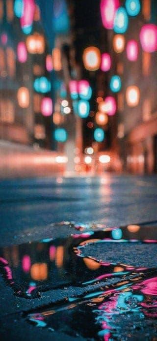Fondo de pantalla iPhone lluvia en el suelo