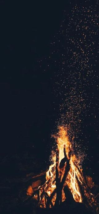 naturaleza con fuego fondo de pantalla iPhone