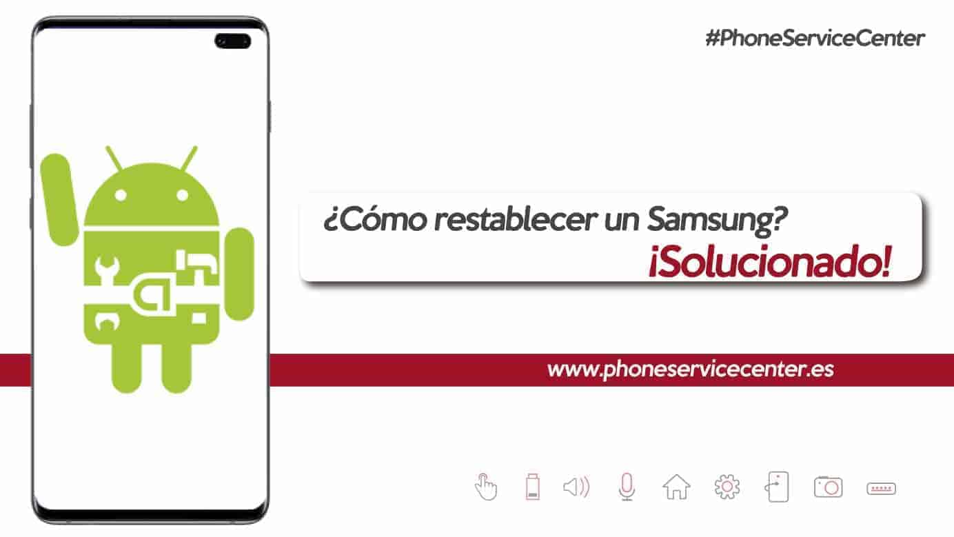 restablecer un Samsung