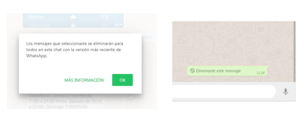 Como eliminar un mensaje enviado por WhtasApp