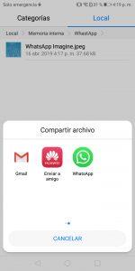 Captura contenido WhatsApp