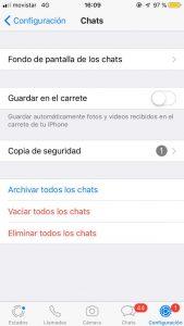 Captura WhatsApp iOS