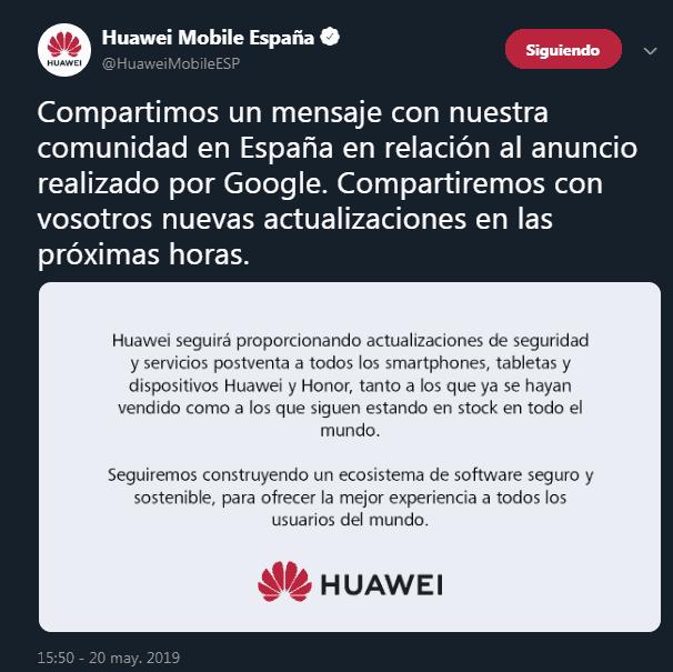 HUAWEI COMUNICADO