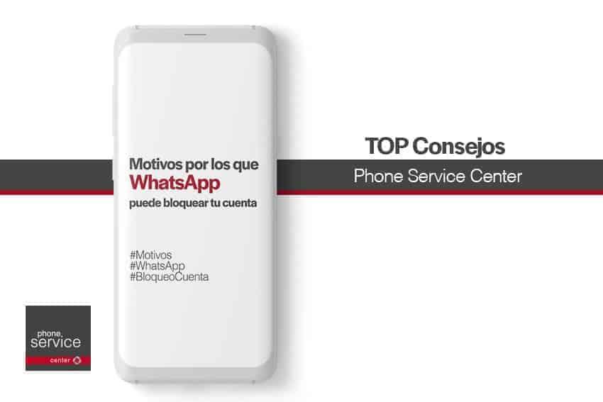 WhatsApp puede bloquear una cuenta