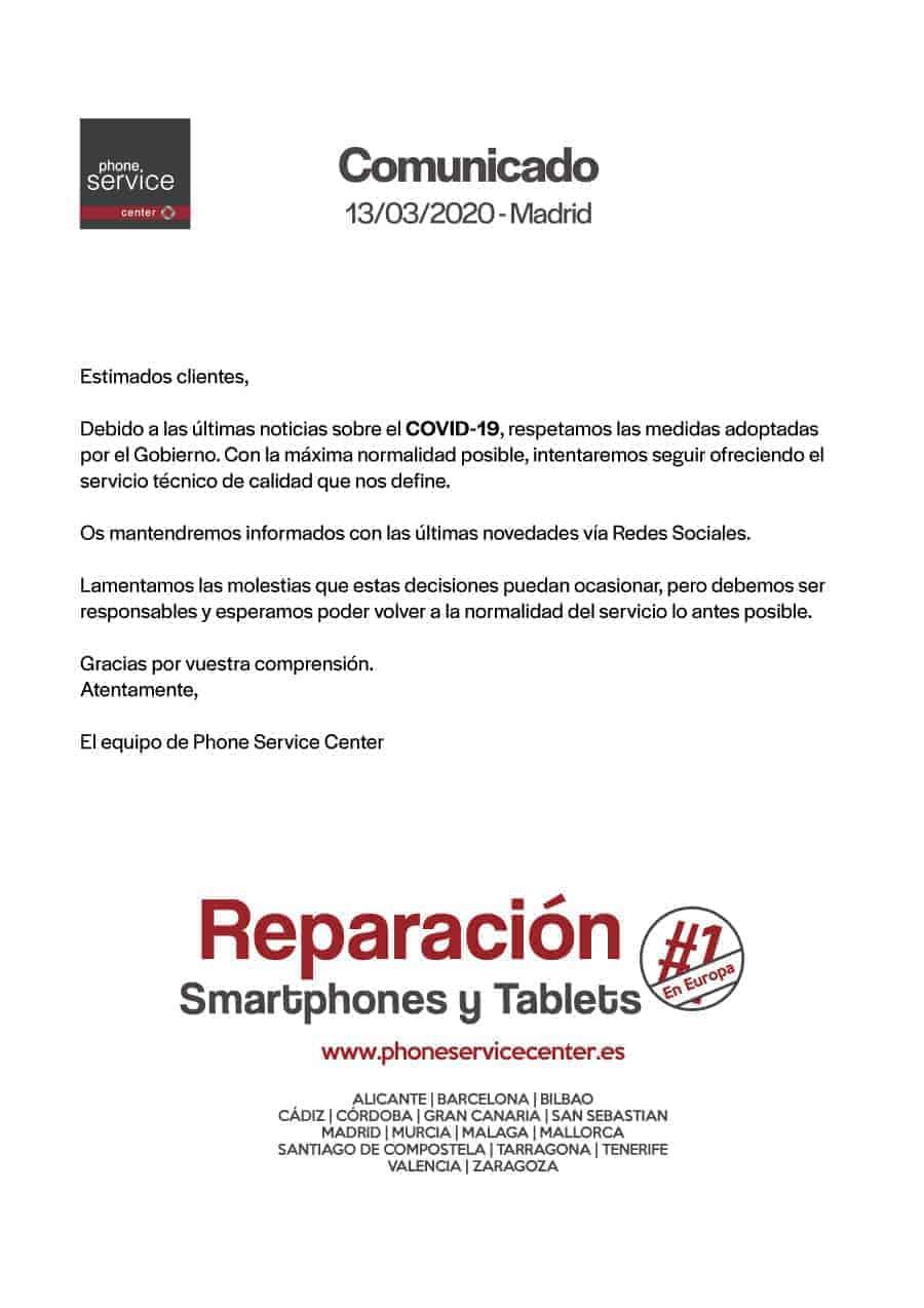 Comunicado-Phone-Service-Center-13-Marzo-2020